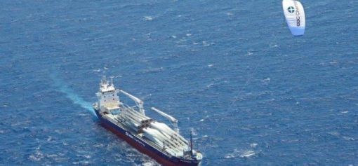 Kite-powered vessel, source: IWSA